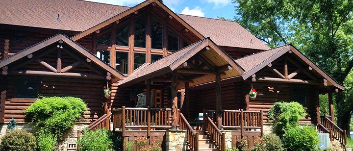 Coeur d'Alene Log Home after Window Cleaning